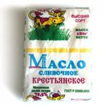 Масло крестьянское в/сорт